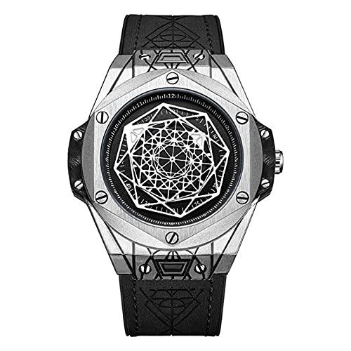 Hktec Relojes para hombre, geometría nórdica, mitología, símbolo de runa runa de cuarzo, impermeable, vintage, hechos a mano, ajustables, regalo para el día del padre