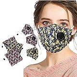 3 Piezas con 3 Bolsa de tela para guardar Adultos Mask_Mascarilla Pañuelos para el cuello, Diseño fl...