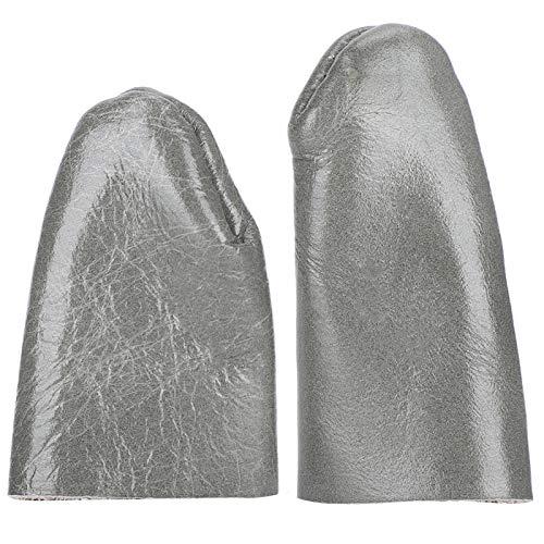 Jazar Protectores de Dedos de Tejido de Color Azul-marrón, cómodos, duraderos, compactos, portátiles, Cuna para Dedos de Piel de Vaca, para Tailor Home Tailor Shop Family