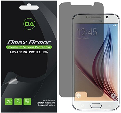 [2-Pack] Dmax Armor for Samsung Galaxy S6 Privacy Anti-Spy Screen Protector Shield
