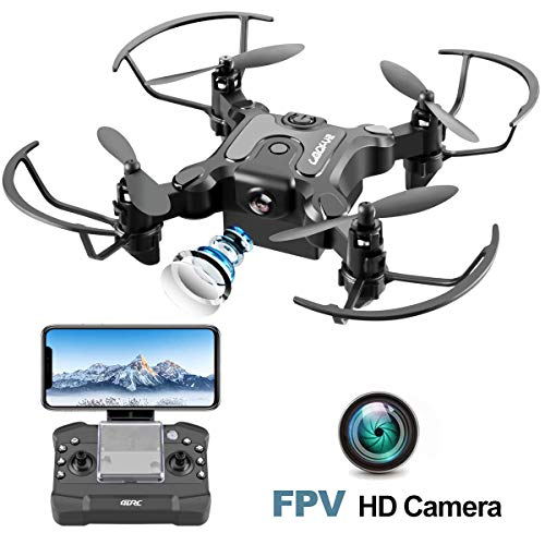 4DRC Mini Drone with Camera for Kids and Adults Beginners RC Foldable FPV Live Video Drone Quadcopter,App Control,3D Flips and Headless Mode,One Key Return,Altitude Hold,3 Modular Battery