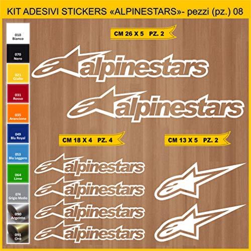 Autocollants Alpinestars Moto Motorbike code 0645 (010 Blanc)