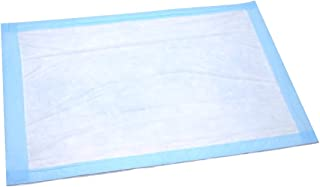 Disposable Underpad 25 Count (Size 23 x 36 Inch) - Blue Hospital Bed and Chair Incontinence Protector Pad for Adult, Child, or Pets - Absorbent Waterproof Chux by BrightCare