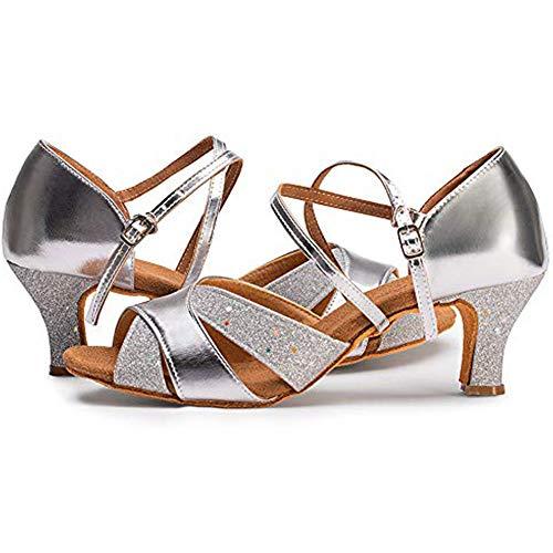 Damen Tanzschuhe Balboa Latein Salsa Rumba Tango Ballroom Schuhe Material Leder, 6.5cm