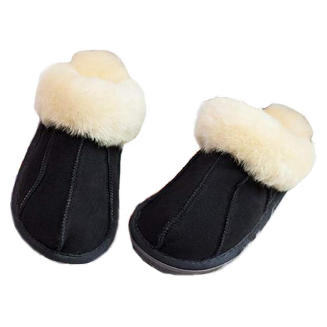 靴スポーツをするカラス[Qmfur] 冬のソフトコンフォートスリップオン屋内屋外スリッパ