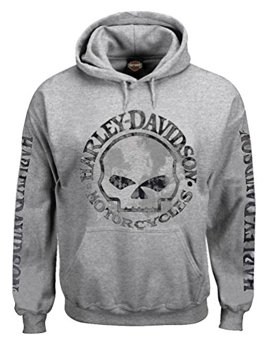 Harley-Davidson Men's Hooded Sweatshirt, Willie G Skull Hoodie