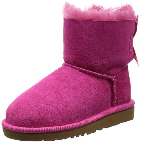 UGG Mini Bailey Bow Stiefel, Unisex, Kinder, Pink - Cerise - Größe: 35 EU