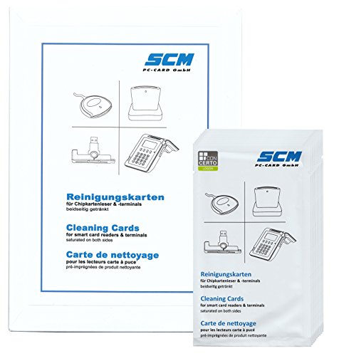 SCR Card Cleaning Kit 10er Pack - Reinigungskarten für Kartenleser / auch Chipdrive
