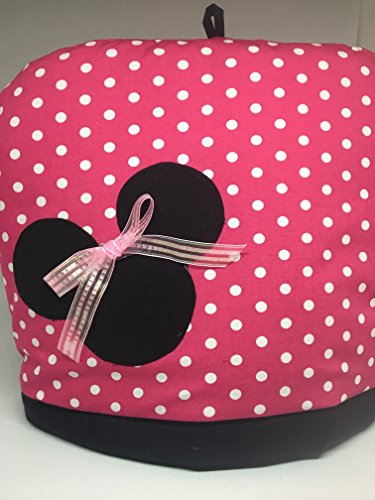 Minnie Mouse pink polka dot Dome style Reversible tea pot cozy -2-4 cup Hood tea pot cosy