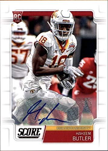 2019 Score Rookies Signatures #350 Hakeem Butler RC Rookie AUTO Autograph Iowa State Cyclones Football Trading Card