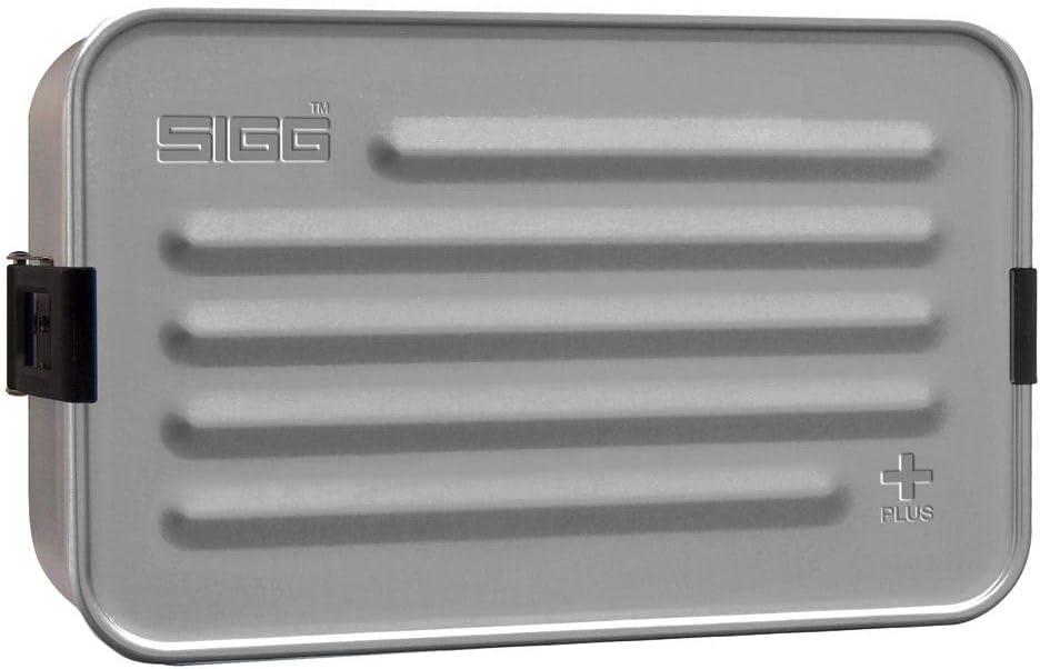 Sigg 8698.00 Food Storage Container Box Rectangular Black, Grey 1 Piece – Food Container (Box, Rectangular, Black, Grey, Aluminium, 145 mm, 229 mm)