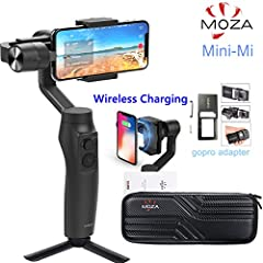 🌟【Wireless Phone Charging】Keep your Apple iPhone or Samsung Phone fully charged with the MOZA Mimi-MI Smartphone Gimbal. Works with all wirelessly-charged phones or using inductive charging technology and magnetic coils in the phone holder, the Mini-...