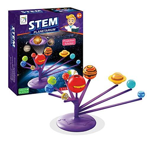 BesDirect Kinder Sonnensystem Planetarium Modell Kit, DIY Wissenschaft Kit Planet Modell Stammspielzeug Geschenk für Kinder Jugendliche, Wissenschaft Lernen Lernspielzeug