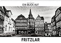 Ein Blick auf Fritzlar (Wandkalender 2022 DIN A2 quer): Ein ungewohnter Blick in harten Schwarz-Weiss-Bildern auf Fritzlar (Monatskalender, 14 Seiten )