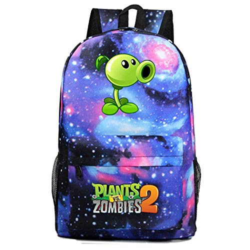 WANHONGYUE Plants vs. Zombies Game Cosplay Daypack Casual Backpack Day Trip Travel Bag Galaxy A /2