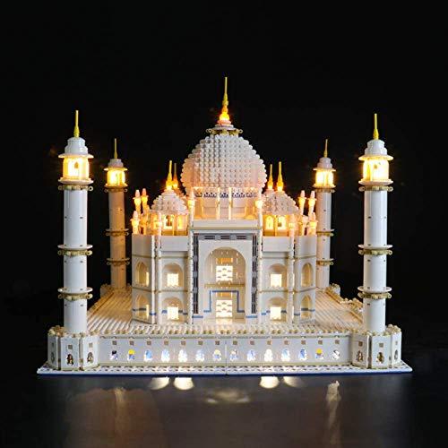 HLEZ Juego de Luces LED de para Creador Experto Taj Mahal Modelo de Bloques de Construcción, Conjunto de Luces Lluminación Compatible con Lego 10256 (Modelo Lego no Incluido)