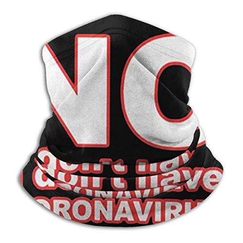Alive Inc No, non ho C-Oronav-Irus Scaldacollo in microfibra Scaldacollo Ghette Copricapo Maschera Bandane