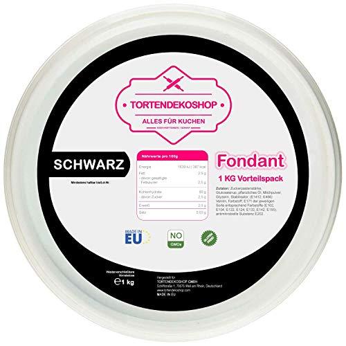 Tortendeko Fondant Premium Schwarz 1 KG