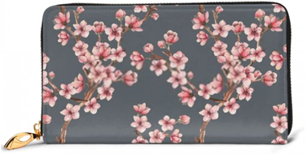 Fashion Indianapolis Mall Handbag Zipper Wallet Cherry Clut Branches Flowers Today's only Phone