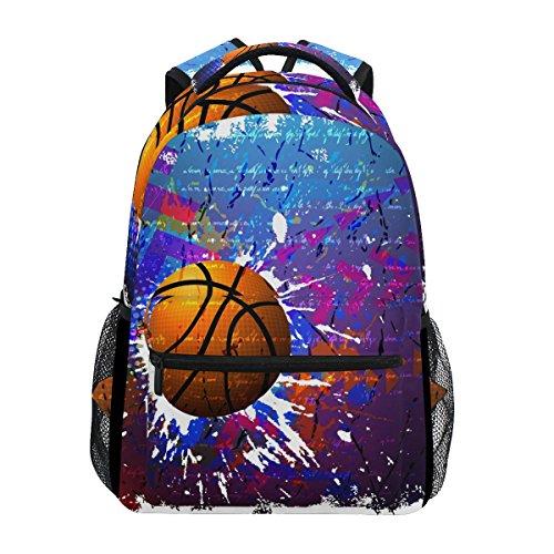 Tizorax - Zaino da basket hippie, per scuola, per escursioni, viaggi, ecc.