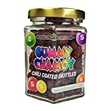 Premium Chili coated Skittles | Gummy Chamoy | Mess Free | Handmade, Fresh & Delicious| Long Lasting Flavor | For Adults, Kids | 7oz Jar