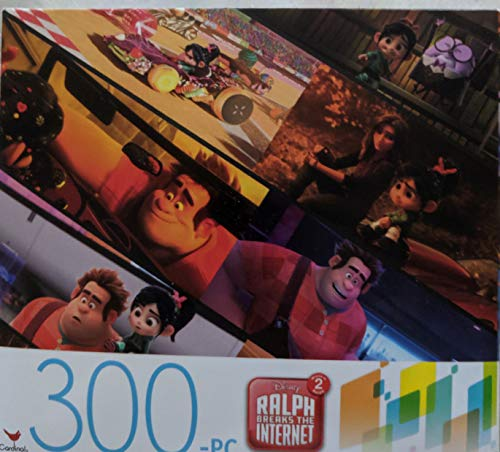 Factory Sealed 300-piece Puzzle Featuring Characters from The Disney Movie Ralph Breaks The Internet. for Ages 9 Years and up. Finished Puzzle is 11' x 14'