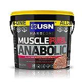 USN Muscle Fuel Anabolic Chocolate Lean Muscle Gain Shake Powder, 4000 g