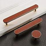 Armoire européenne porte coiffeuse en cuir poignée tiroir armoire à vin poignée de porte poignée en métal doré poignée matériel