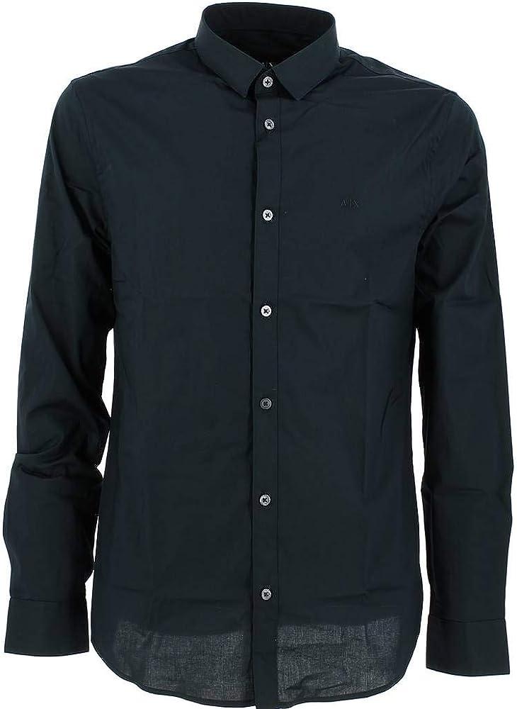 Armani exchange smart & slim, camicia per uomo, 98% cotone, 2% elastan 8NZC41ZN28ZA