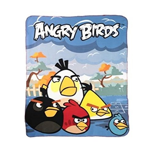 Plaid - Couverture polaire Angry Birds 120 x 140 cm