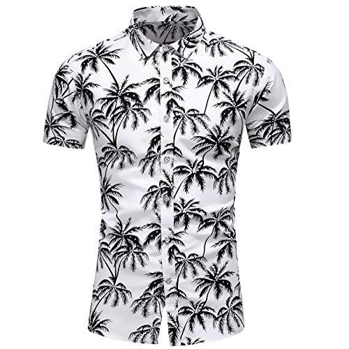 Camisas de Hombre Primavera y otoo Moda 3D Impresin Digital Solapa Camisas de Manga Corta Moda Slim-fit Camisas Impresas Personalizadas de Gran tamao L