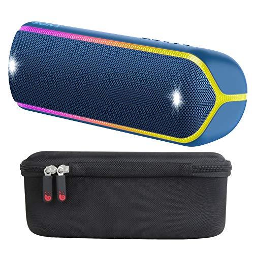 Sony XB32 Extra Bass Portable Bluetooth Speaker (Black) with Travel Hard Case Bundle