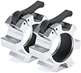 SEEWAY 2 Inch Olympic Barbell Clamps, 2 PCS Quick Release Barbell Locking Clamps Bar Weight Plates Collar Clips for Workout Bodybuilding Weightlifting