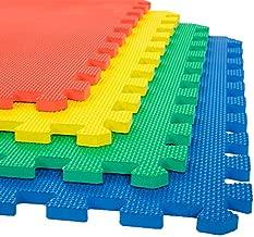 Stalwart Foam Mat Floor Tiles, Interlocking EVA Foam Padding Soft Flooring for Exercising, Yoga, Camping, Kids, Babies, Playroom – 4 Pack, 24