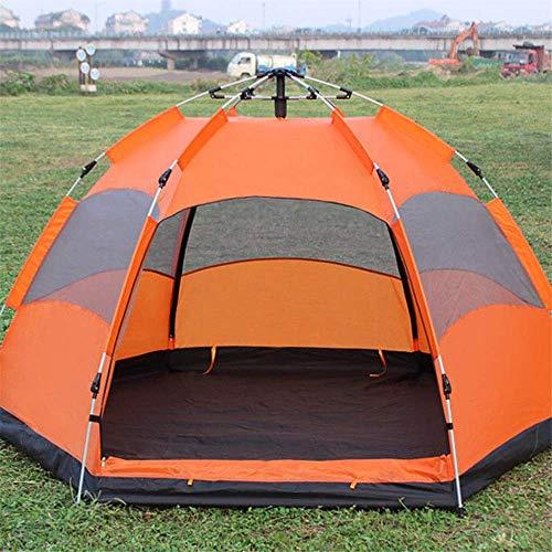 Tienda de camping Pop Up Tent Camping al aire libre Tienda Playera 5-8 personas Instantánea Tienda grande Impermeable al aire libre Camping Familia UV Sombrilla de sol impermeable (Color: Azul, Tamaño