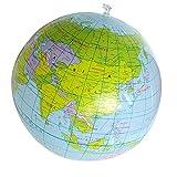 Vektenxi Premium Qualität Aufblasbare Weltkugel Erde Karte Geographie Lehrer Hilfe Ball Spielzeug Geschenk 40 cm / 16 -