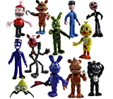 LSANG Set of 12 pcs Five Nights at Freddy's Action Figures Toys Dolls Gifts Cake Toppers, 4 inches