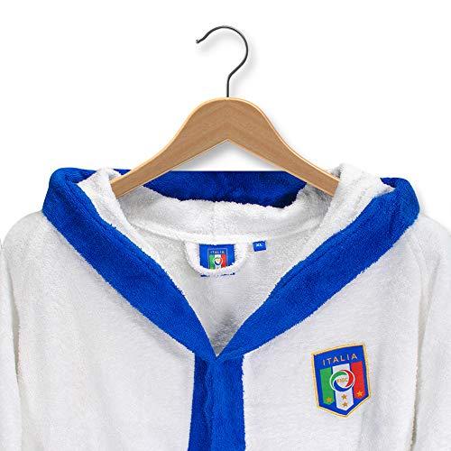 THEAILATI Bademantel für Erwachsene, Italien, offizielles FIGC Frottee mit Kapuze