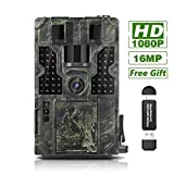 ?Full HD 1080P Video & 16MP Clearer Photo?This trail camera captures 16MP crystal clear photo and 1080P FHD video with clear sound recording, day (color) and night (black and white), ensure every deta ?Super Fast 0.2S Trigger Speed with 3 PIR Sensors...
