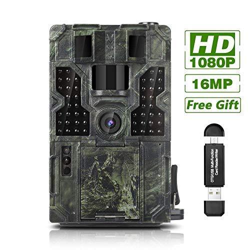 Trail Game Camera 16MP 1080P Waterproof Hunting Scouting Cam Wildlife Monitoring...