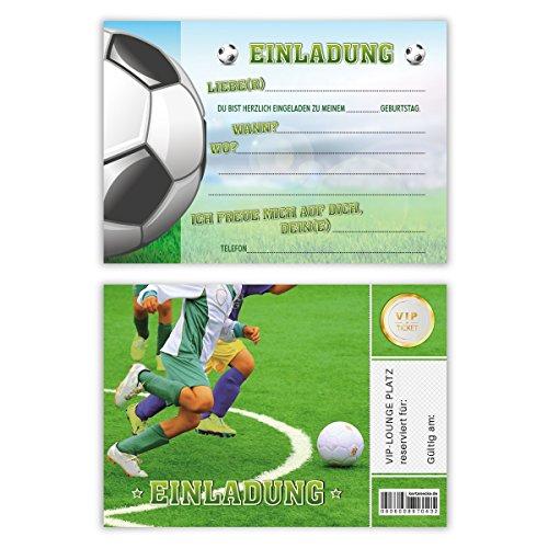 Einladungskarten Kindergeburtstag Jungen Mädchen 8 Stück Karten - Fußballticket
