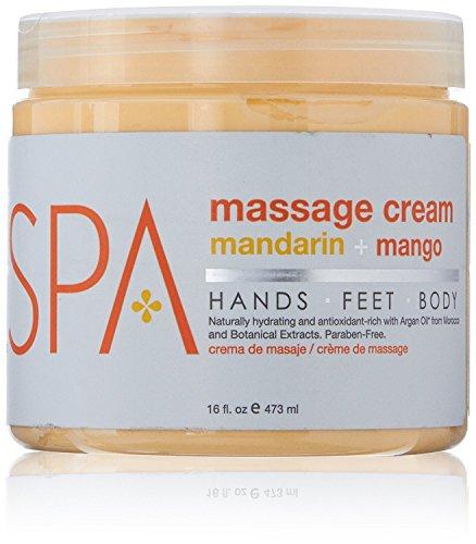 BCL Spa Mandarin and Mango Massage Cream, 16 Ounce