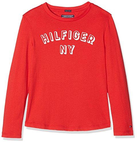 Tommy Hilfiger Jungen Essential Big Logo Tee L/S T-Shirt, Rot (Lollipop 633), 92