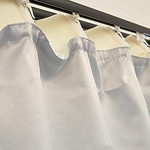 後付け 裏地カーテン 遮光 保温 断熱 洗える カーテンライナー 幅100cm × 丈135cm 1枚単品