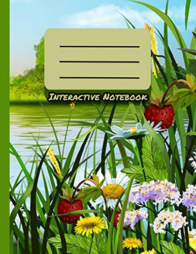Interactive Notebook: INB Template Composition Book: Table of Contents, Numbered Pages, Sketch Paper (left output), Wide Ruled (right input) and Glossary 8.5 x 11 Softcover Doodle Notes Writing Pad.