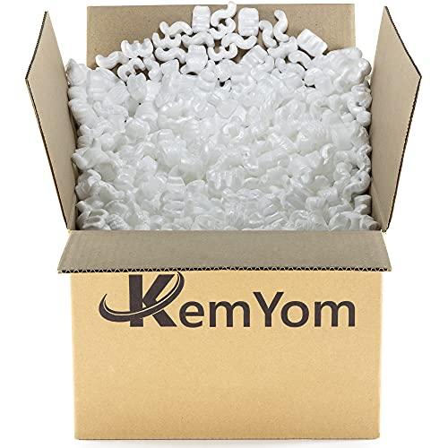 Material de Relleno para Cajas de Embalajes - Poliestireno Expandido de relleno y protección para envíos - Fichas Mezcladas tipo S Gusano y W (100Litros)