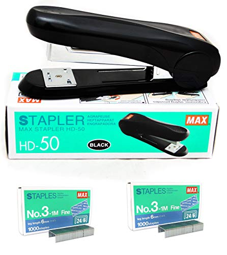 Max Stapler HD-50 with 2 Boxes Max Staples No.3-1M (up to 30 Sheets of Paper) Photo #7