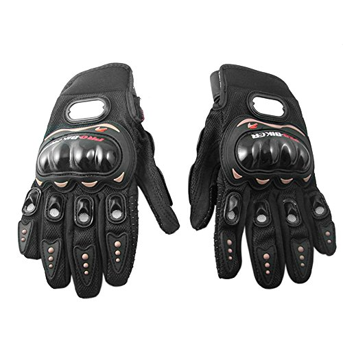 Docooler1 Pair Ergonomic Design Anti Slip 3D Hard Shell Protective Gear Motorcycle Sport Racing Bike Bicycle Riding Cycling Gloves (Black, XXL)