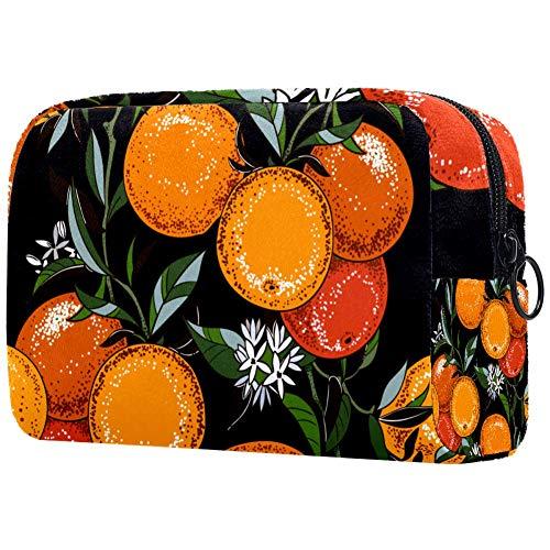 Trousse de toilette portable personnalisée pour femme - Organisateur de voyage - L'arbre orange