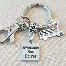 SCHOOL BUS DRIVER Appreciation Gift, Awesome Bus Driver Keychain Gift Ideas, School Bus Driver Teacher Quote Keychain, School Bus Charm Keychain Gift, Bus Driver Gifts